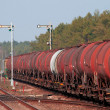 Freight fuel train — Stock Photo