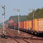 Mixed freight train — Stock Photo