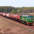 Stock Photo: Freight fuel train