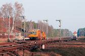 Railway heavy duty machines — Stock Photo