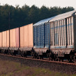 Freight diesel train — Stock Photo #3010548