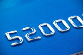Credit card embossing — Stock Photo