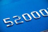 Gaufrage de carte de crédit — Photo