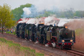 Old steam locomotives — Stock Photo