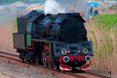Old steam locomotive — Stockfoto
