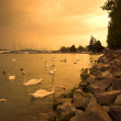 Stock Photo: Storm over lake Balaton