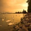 Storm over lake Balaton — Stock Photo