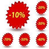 Sprzedaż naklejek — Wektor stockowy