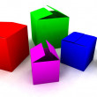 Stock Photo: Colored Boxes