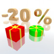 Discount percentage — Stock Photo