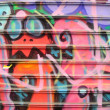 Graffiti on a shop — Stock Photo