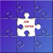 Puzzle - job offer — Foto Stock