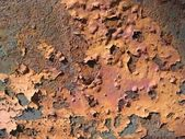 Scaled painting and rust — Stock Photo