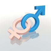 Male and female symbols — Stock Photo
