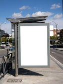 Blank Bus Stop Billboard — Stock Photo