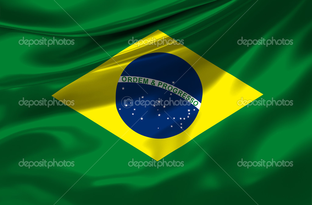 Satin Brasilian Flag — Stock Photo #3287579