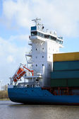 Ship with cargo on the Kiel Canal — Stock Photo