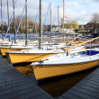 Recreational sailing boats in Netherland — Stock Photo