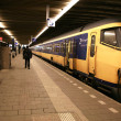 At the train station in The Hague, Nethe - Stock Photo