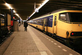 At the train station in The Hague, Nethe — Stock Photo