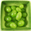Grapes fruit in green bowl — Stock Photo