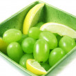 Stock Photo: Grapes fruit in green bowl