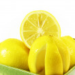 Stock Photo: Lemons fruits in green bowl