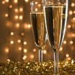 Two champagne flutes. - Stock Photo