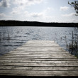 Stock Photo: Wooden pier.
