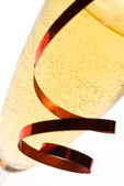 Champagne flute close up. — Stock Photo