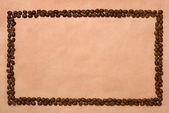 Rectangle coffee frame. — Stock Photo
