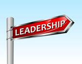 Arrow road sign leadership — Stock Vector