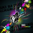 Royalty-Free Stock Vector Image: Ski abstract background