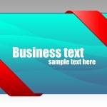 New red corner business ribbon — Stock Vector