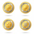 Set of best choice golden labels - Stock Vector