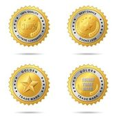 Set of best choice golden labels — Stock Vector