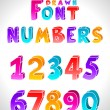 Hand drawn vector font — Stock Vector