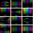 Abstract rainbow bark colour background collection - Stockvectorbeeld