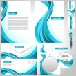 Business templates. Corporate style - Vektorgrafik
