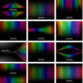 Abstract rainbow bark colour background collection — Stock Vector