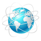 Globo com órbitas — Vetorial Stock