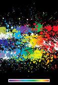 Color paint splashes abstract background — Cтоковый вектор