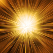 Golden Light Burst — Stockfoto