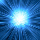 Blue light burst — Stock Photo