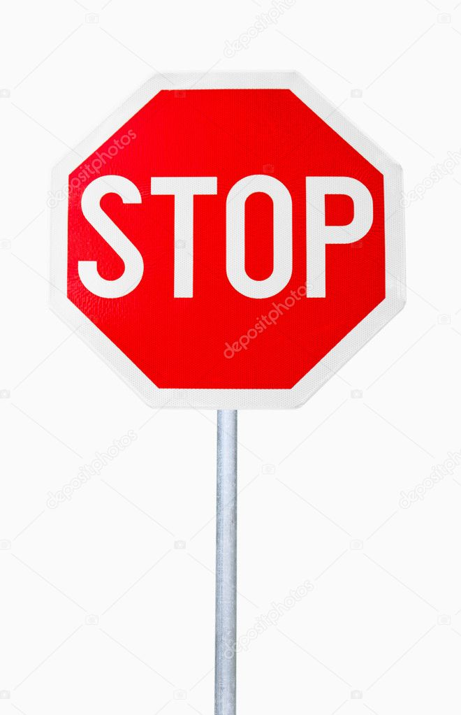 Stop Sign Isolated on white background — Stock Photo #2832972