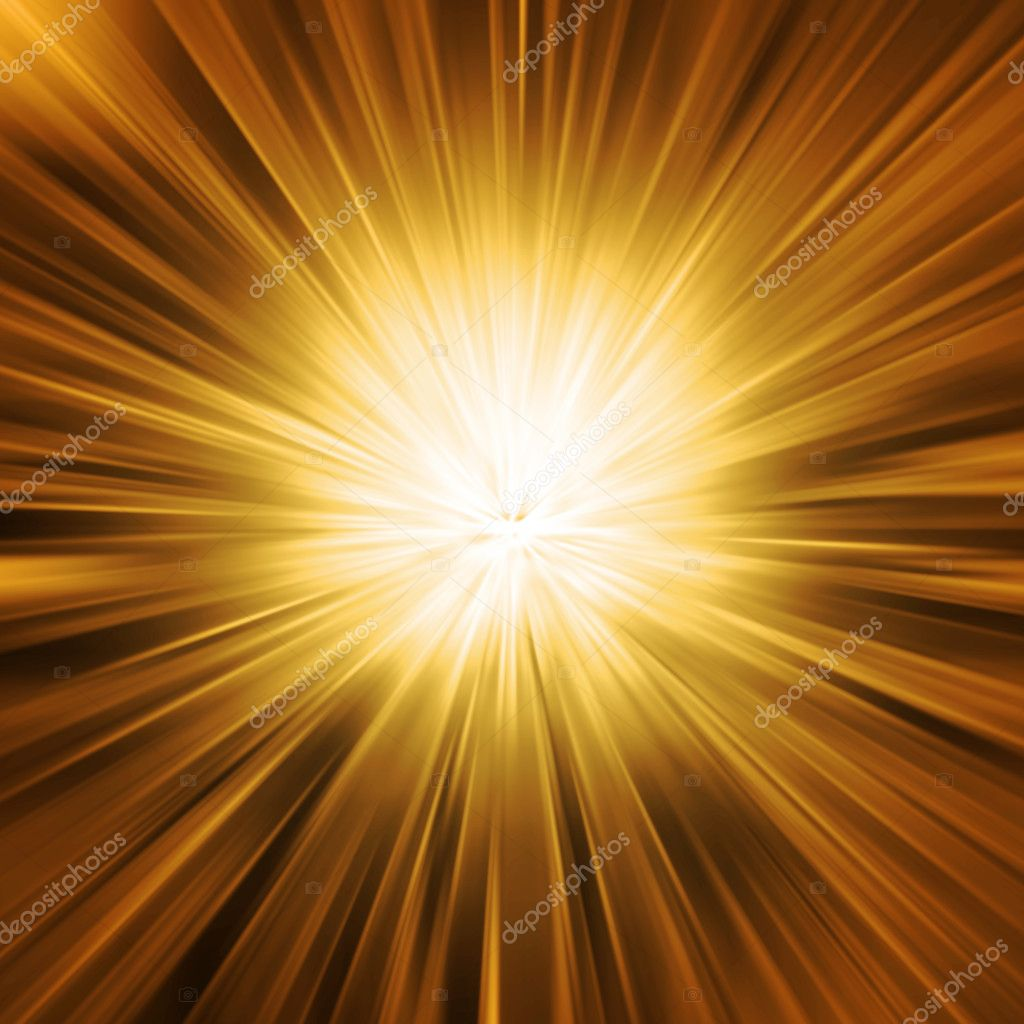 Golden Light Burst  Stock Photo #2833056