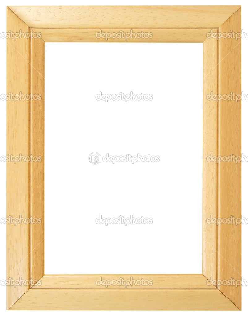 Wooden frame for painting or picture on white background with clipping path — Stock Photo #2833080
