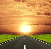 Road under the sun — Stock Photo