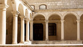 Courtyard of a Temple-Zadar — Stok fotoğraf