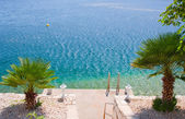 Adriatic beach — Stockfoto
